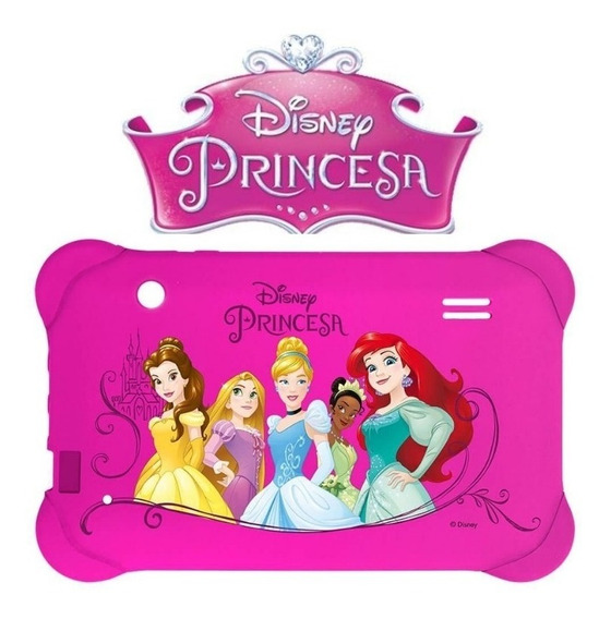 Capa Emborrachada Para Tablet 7 Polegadas Tema Princesas