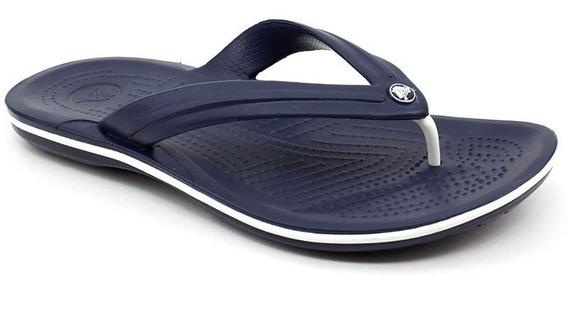 Chinelo Crocs Crocband Original Flip Azul Escuro Loja Pixolé