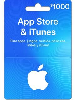 Tarjeta App Store $1000