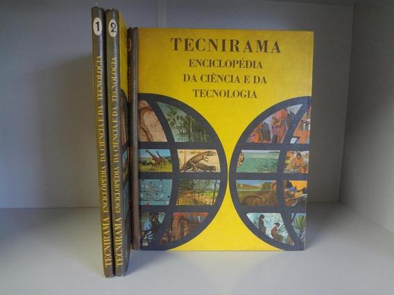 Livros Enciclopédias Tecnirama 3 Volumes Rara Antiga