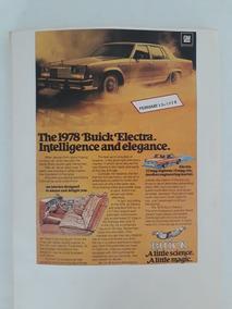 Propaganda Antiga Buick Electra 1978 Raro Publicidade Coleçã