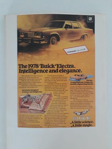 Propaganda Antiga Buick Electra 1978 Raro Publicidade