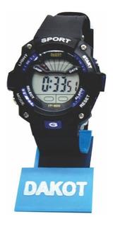 Reloj Digital Deportivo Cronometro Sumergible Dakot Da166