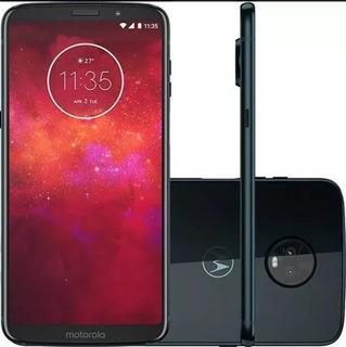 Motorola Moto Z3 Play Xt1929 Indigo Original Nf Nacional