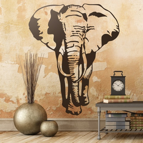 Vinilo Decorativo Elefantes! Animales, Selva.