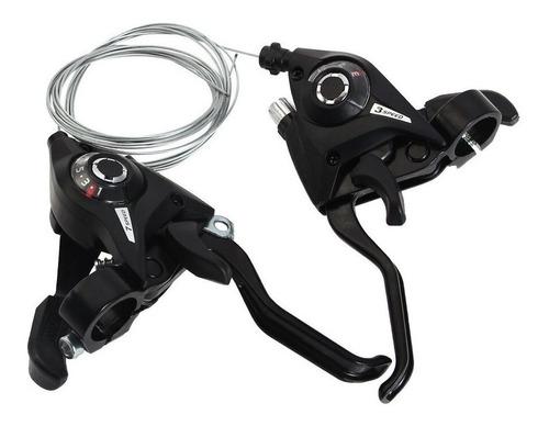 Set X 2 Shifter Tipo Shimano Compatible 3x8 24v X Par + Freno Integrado + Cambio