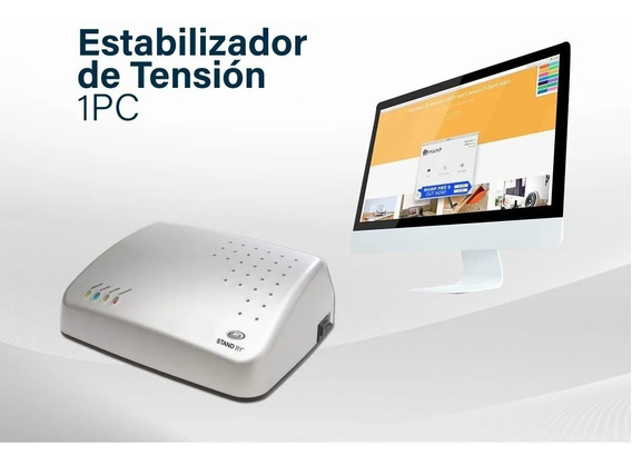 Estabilizador Tension Tv Lcd Led 1 Pc 500w 4 Tomas Stand By