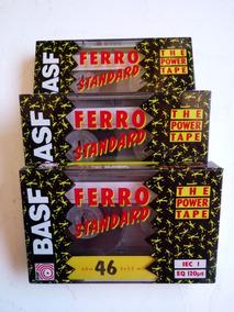 Fita Áudio K7 Basf Ferro Standard 46 Min Raridade C/ 3un