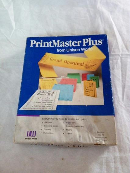Para Colecionadores Printmaster Plus De 1986 Disquetes 5 1/4