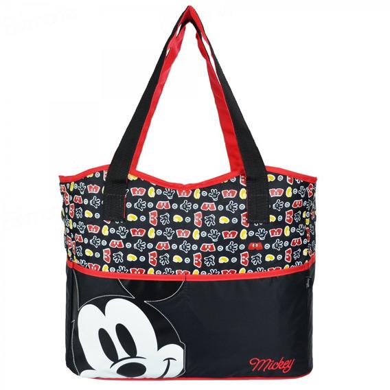 Bolsa Maternidade Baby Bag Luxo Mickey Com Trocador Baby Go