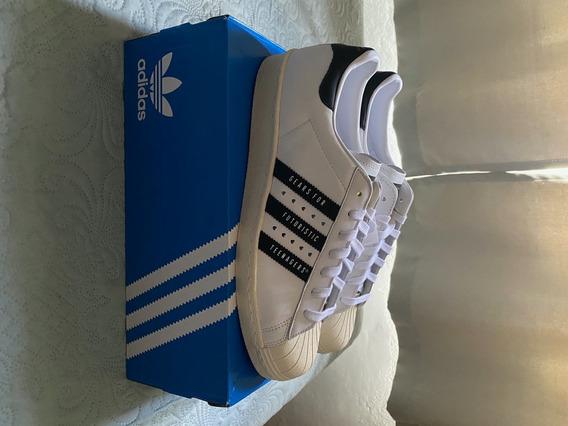 Tenis adidas Superstar 80s Human Made Branco