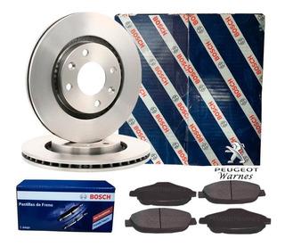 Pastillas + Discos Freno Bosch Delant Peugeot 308 1.6 Nafta