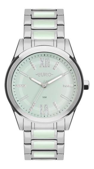 Relógio Feminino Euro Colors Eu2036yqn/3v 43mm Aço Prata