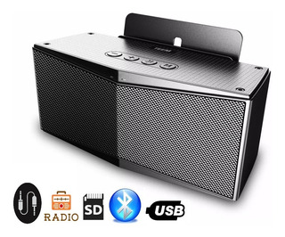 Rádio Dockstation Bluetooth Grande Para iPhone E Android