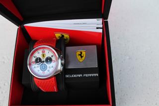 Reloj Ferrari F1 Steel Case Watch White-orig. Made In Suiza