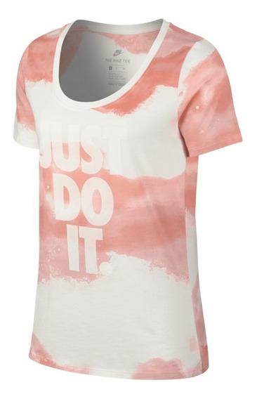 Remera Nike Scoop Rosa Mujer