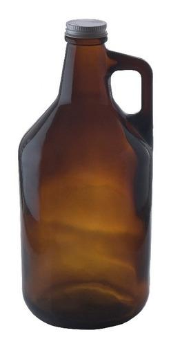 18 Botellones Growler Cerveza Artesanal  Con Tapa 1.9 Vidrio