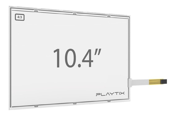 Kit Sistema Touch Screen Resistivo 10.4 Usb 4 Vias Playtix
