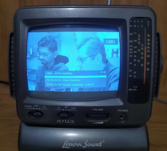 Tv Portátil Rádio Am Fm Lenoxx Tv 500 5 Polegadas