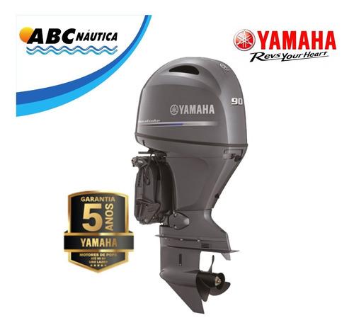 Motor De Popa Yamaha 90hp 4t   Pronta Entrega
