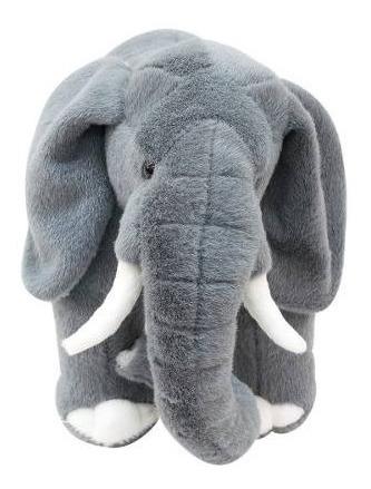 Bicho De Pelúcia Elefante Altura 23 Cm Comprimento 42cm