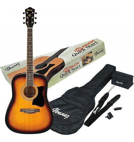 Guitarra Folk Pack Ibanez V50njp Dreadnought Sunburst