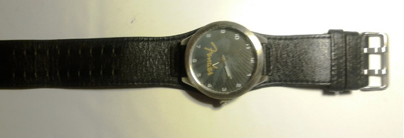 Relógio Fender Pulseira Em Couro - Original - Raridade