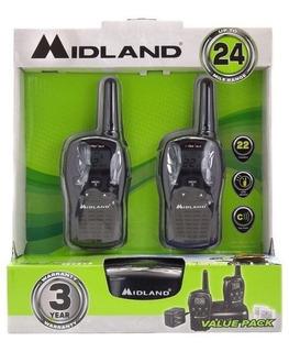 Radios Midland Lxt500vp3 24mi 38km* Alcance Ideal 2vias 4aaa Incluye Base Y Cargador D Pared, 2 Clips, 2 Bats 2 Radios