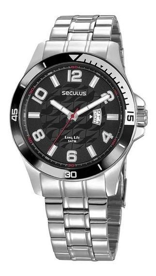 Relógio Masculino Seculus Prata 23667g0svna2 - Nfe/original