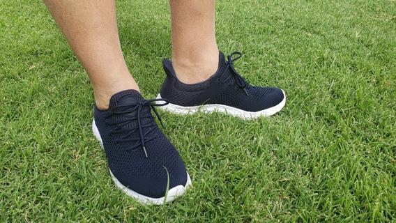 Zapatillas Semi Elastizadas Con Cordones Importadas Hombre