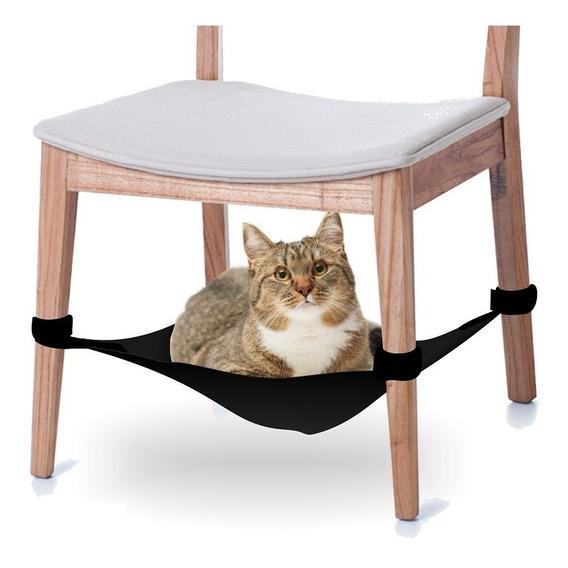 Cama Rede Para Gatos Para Fixar Em Cadeiras - Preto