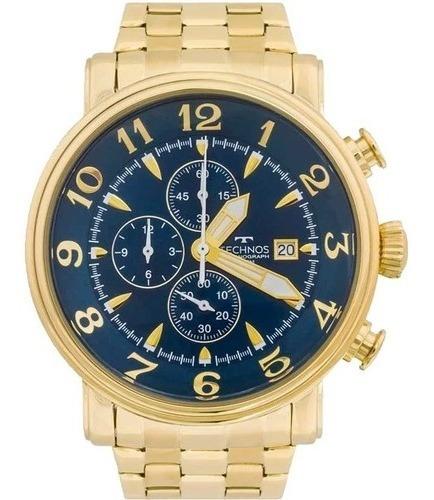 Relógio Technos Cronógrafo Dourado Ref. Os10cr/4a