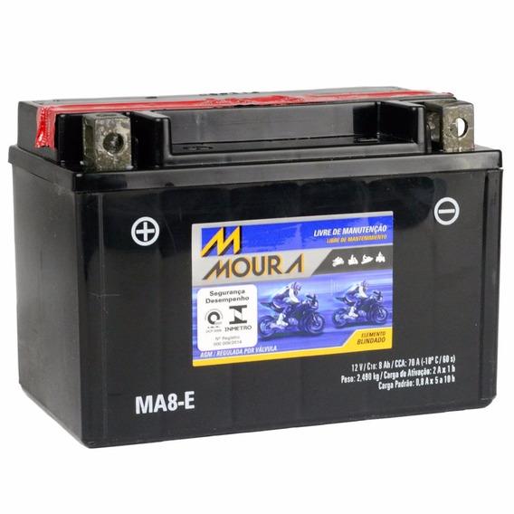 Bateria Moura Moto 12v E 8ah Yamaha Xv250 Xt600 E Mt-03