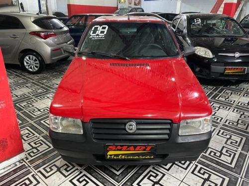 Fiat Uno Mille Fire 1.0 (flex) 2007/2008 Vermelho