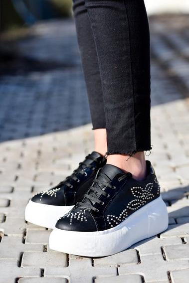 Sneakers Zapatillas De Cuero.marca Prego Nuovo.