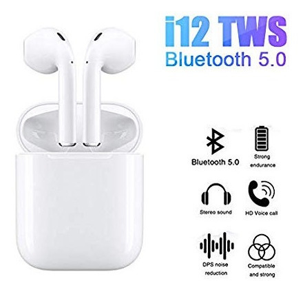Audifono Bluetooth Manos Libre Inalambricos Airpod I12 (15v)