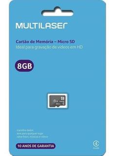 Cartão De Memoria Multilaser Classe4 8gb