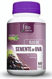 Óleo De Semente De Uva Fito Naturais 60 Cápsulas Antioxidant