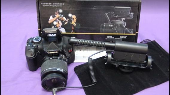 Camera Canon T3i Com Flash Externo. A Vista Tem Desconto