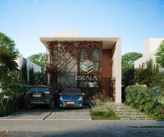 Casa Com 4 Quartos À Venda, 176 M², Cond, Fechado, 4 Vagas, Financia Jacundá - Aquiraz/ce - Ca0316