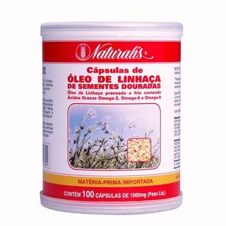 Óleo De Linhaça - Naturalis (100 Cápsulas)