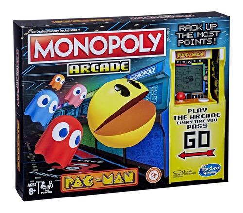 Jogo De Tabuleiro Monopoly Arcade Pac Man Hasbro E7030