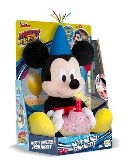 Pelúcia Com Som Personagens Disney Mickey Happy Birthday