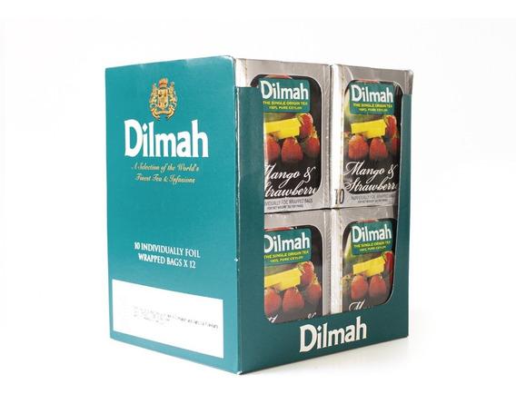 Té Negro Dilmah Mango Frutilla Display 12 Unidades.