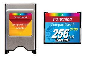 Kit Compactflash Transcend 256mb 80x + Adaptador P Pcmcia