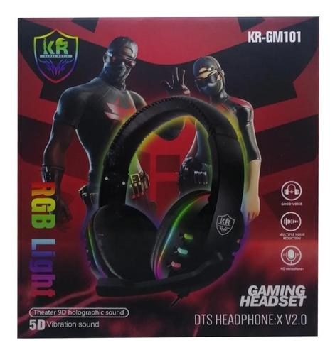 Diadema Audifono Gamer Rgb  Light Usb Microfono