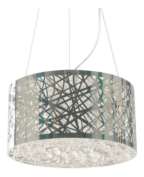 Lámpara Colgante Lágrimas De Vidrio Cromo G4 3 Luces