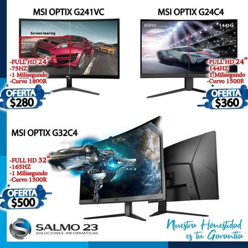 Monitor Gamer Msi Curvo 24 32 1ms 75hz 144hz 165hz Inclu Iva