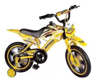 Bicicleta Moto- Bike Moto Aro 16 Freio A Disco De 4 A 8 Anos
