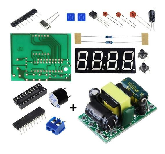 Kit Relógio Digital+fonte De Alimentação 5v 700ma 3.5w Ac220